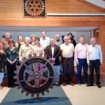 En compañía de Nuestro Socio Rotario y Alcalde de Pucon don Carlos Barra Matamala